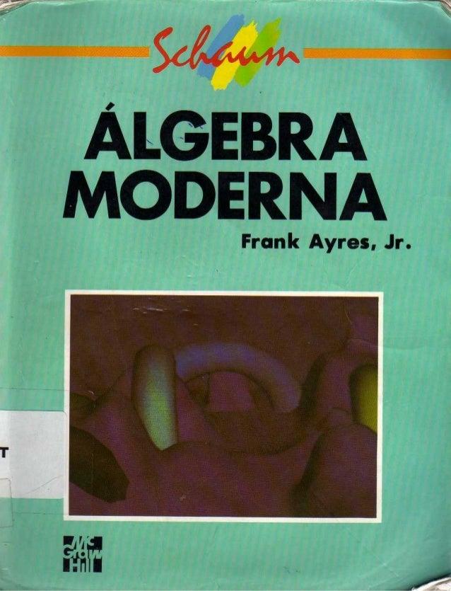 Algebra moderna   schaum