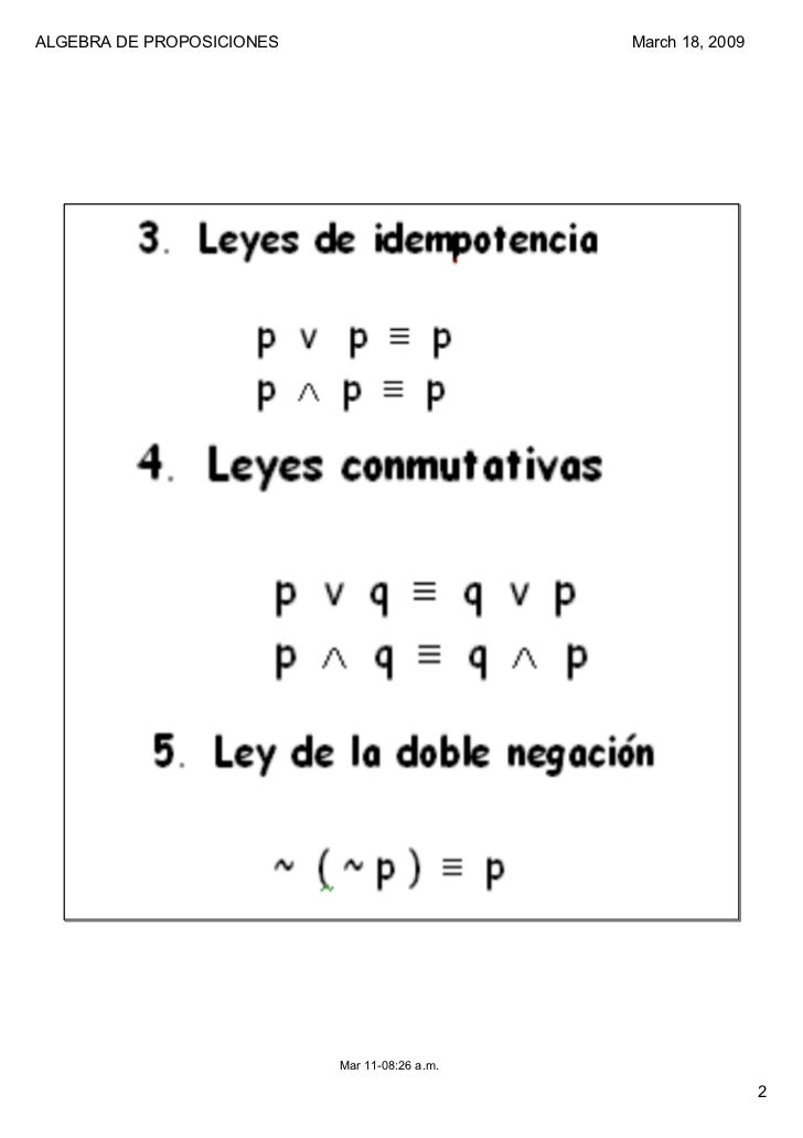 Algebra proposiciones Slide 2