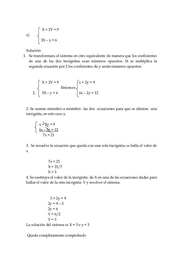 Algebra propuesta