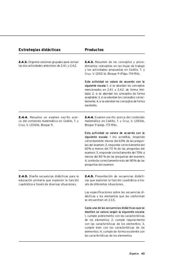 Programa de la materia de Álgebra: su aprendizaje y enseñanza