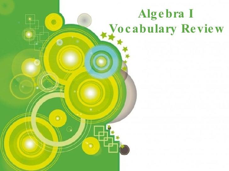Powerpoint Templates Algebra I  Vocabulary Review