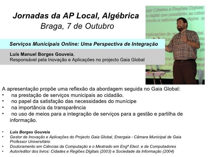 Jornadas da AP Local, Algébrica   Braga, 7 de Outubro <ul><li>A apresentação propõe uma reflexão da abordagem seguida no G...
