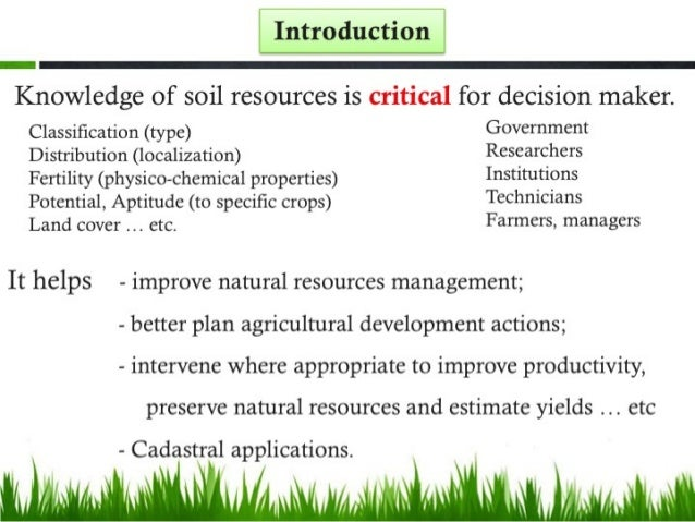 Soil resources and sustainable soil management in algeria for Land and soil resources definition