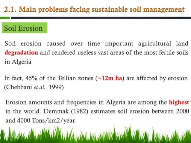 Soil resources and sustainable soil management in algeria for Soil management