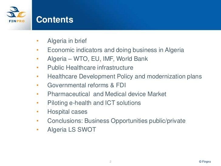 Algeria Health Sector overview. Heli Pasanen-Zentz, Finpro. Slide 2