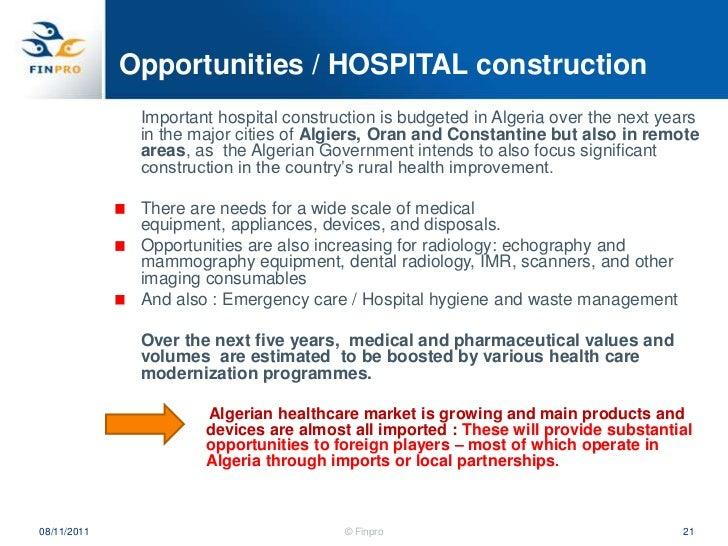 Algeria Health Sector overview  Heli Pasanen-Zentz, Finpro
