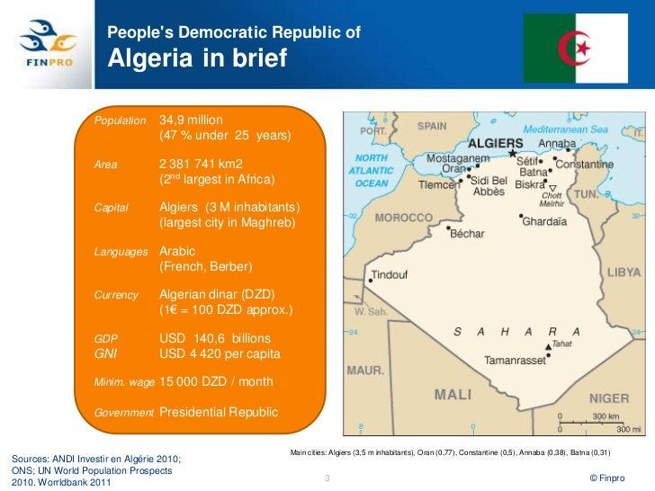 Algeria Health Sector overview. Heli Pasanen-Zentz, Finpro. Slide 3