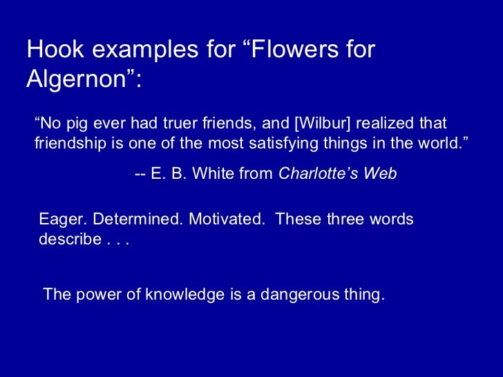 Response to Literature Essay Writing Flowers for Algernon Model - PowerPoint PPT Presentation