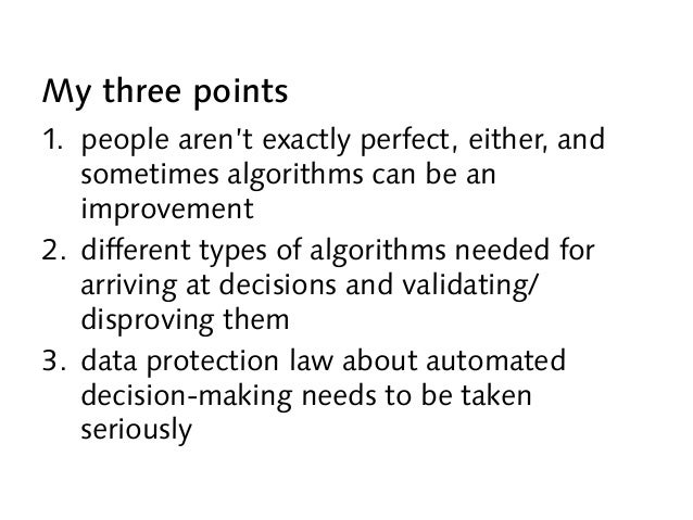 Ethical machines: data mining and fairness – the optimistic view Slide 2