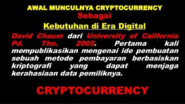 CIRI CRYPTOCURRENCY 1. Disentralisasi: Contoh: a. Internet b. Emas 2. Transparan: Semua transaksi di dalamnya transparan, ...