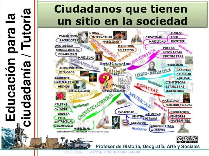 Ciudadanos que tienenciudadanía / Tutoría Educación para la                       un sitio en la sociedad                 ...