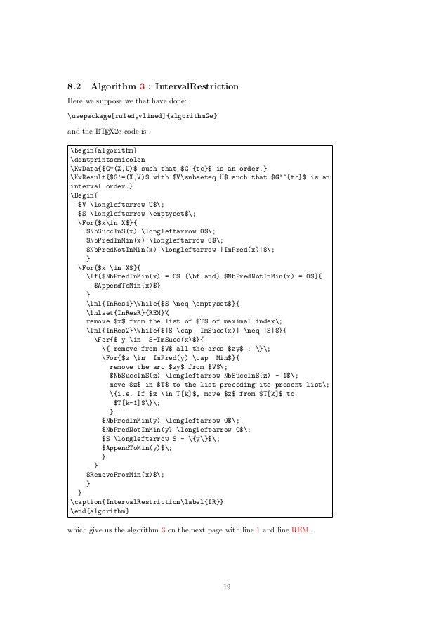 Algorithm2e package for Latex
