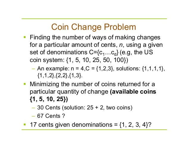 Coin Change Problem