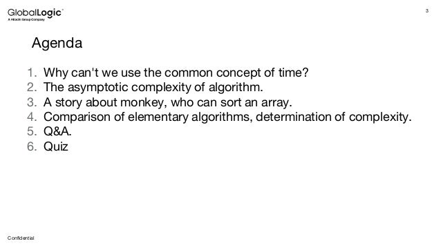 Computational Complexity of the Algorithm: When Time Fades Away Slide 3