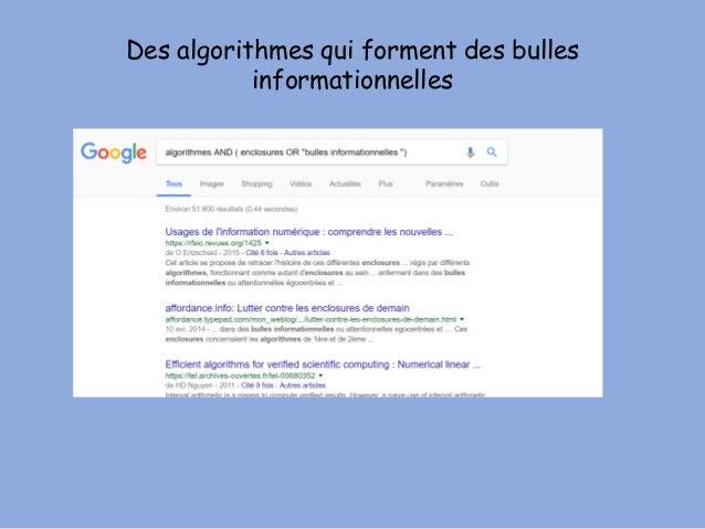 Des algorithmes qui forment des bulles informationnelles
