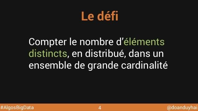 Algorithmes distribues pour le big data @ DevoxxFR 2015 Slide 4