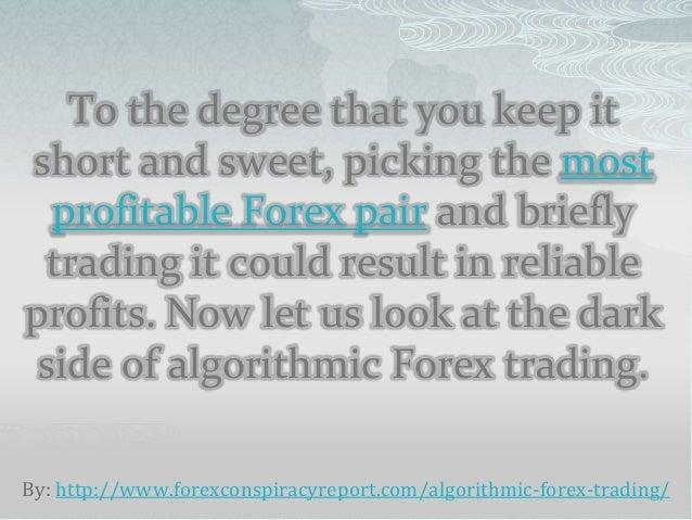Algorithmic trading forex market