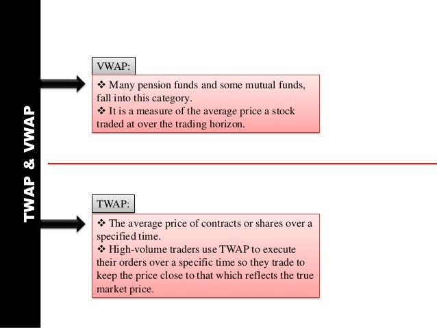 Algo trading strategies vwap