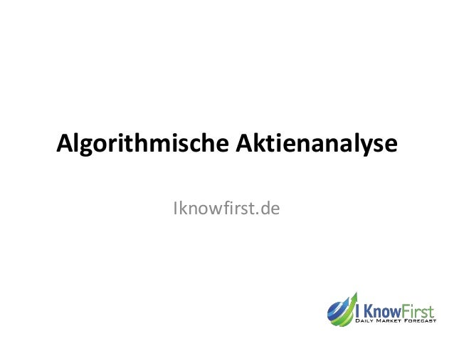 Algorithmische Aktienanalyse Iknowfirst.de