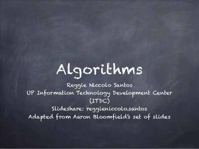 Algorithms - Aaron Bloomfield