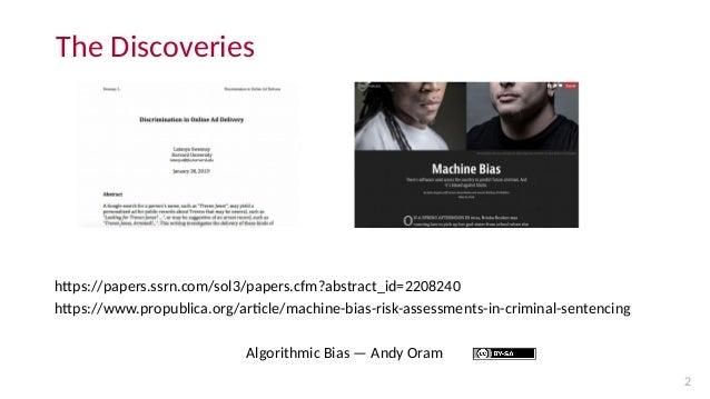 Algorithmic bias: introduction Slide 2