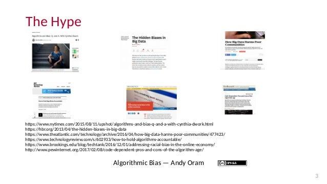 Algorithmic bias: introduction Slide 3