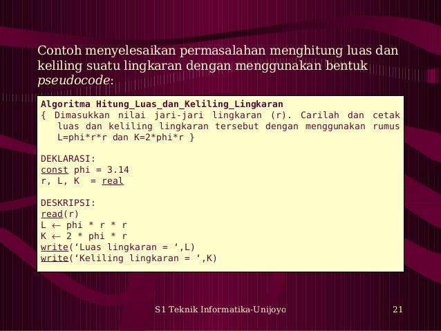 Algoritma Pemrograman 01