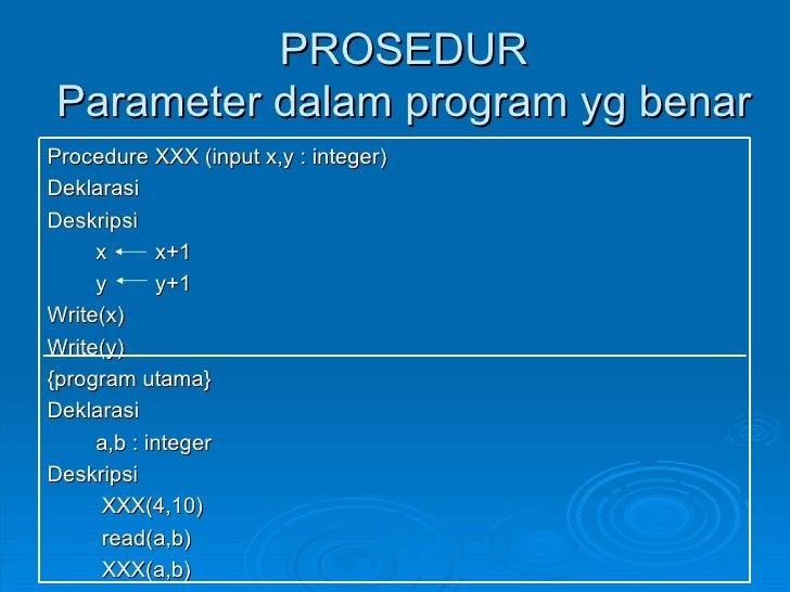 Algoritma Prosedur Dan Fungsi