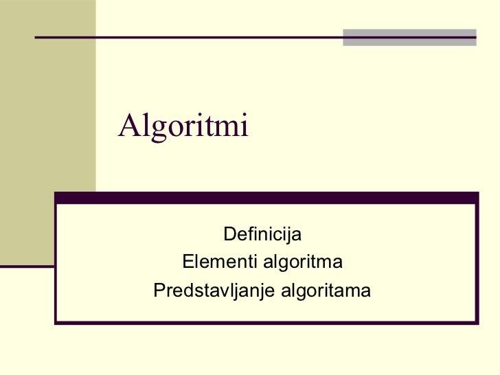Algoritmi Defini...Algoritmi