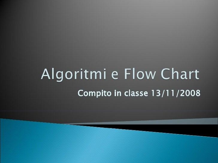 Compito in classe 13/11/2008