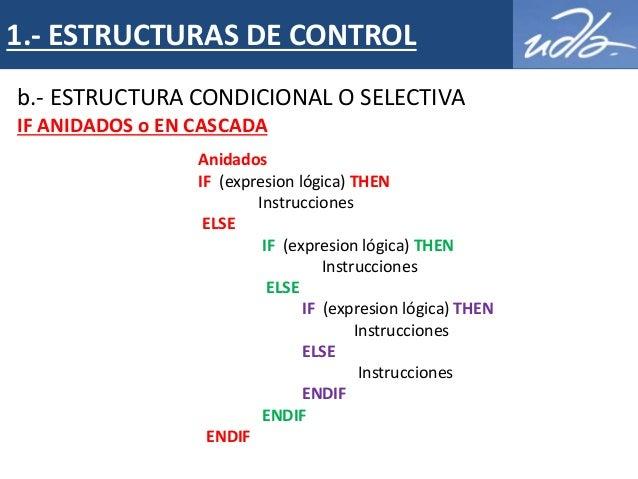 Algoritmia Estructuras De Control