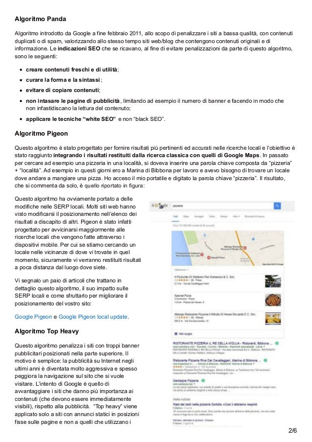 Algoritmi dei motori di ricerca Slide 2