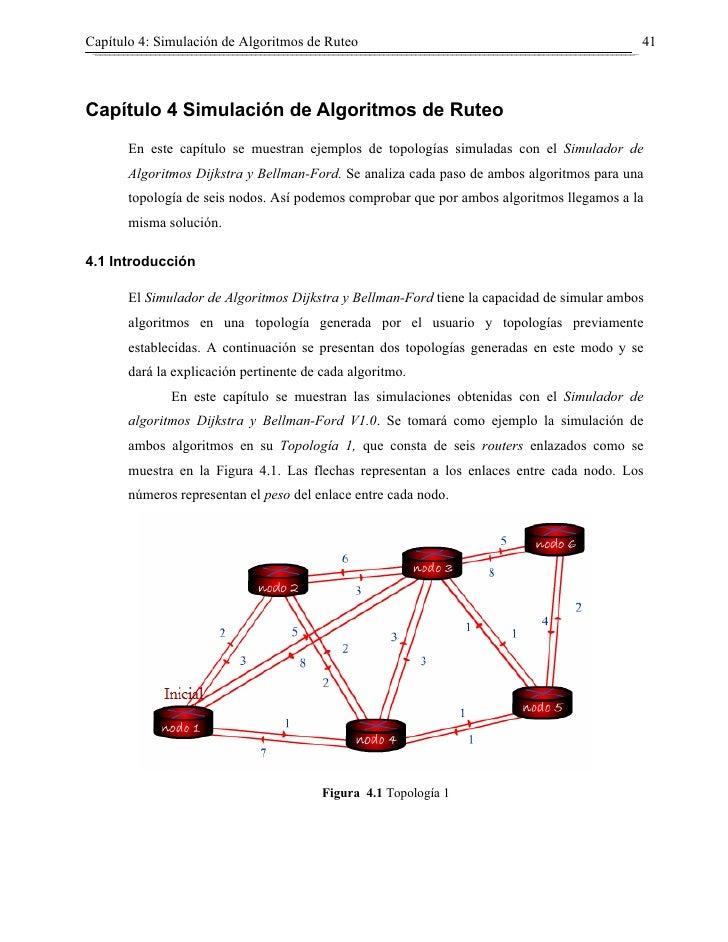 Capítulo 4: Simulación de Algoritmos de Ruteo                                               41    Capítulo 4 Simulación de...