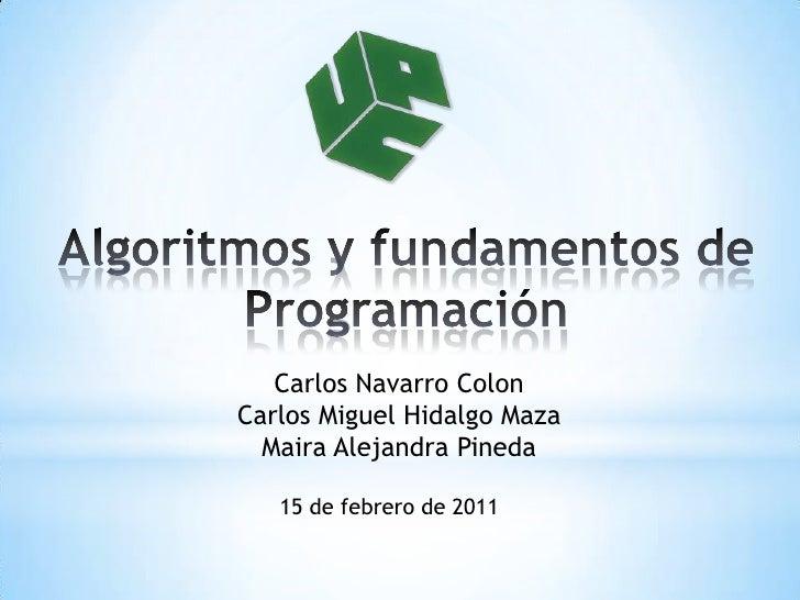 Algoritmos y fundamentos de programación