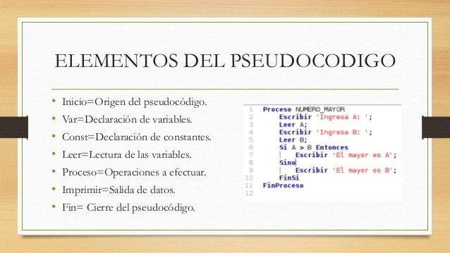 Algoritmos y pseudocodigo for Elementos de un vivero