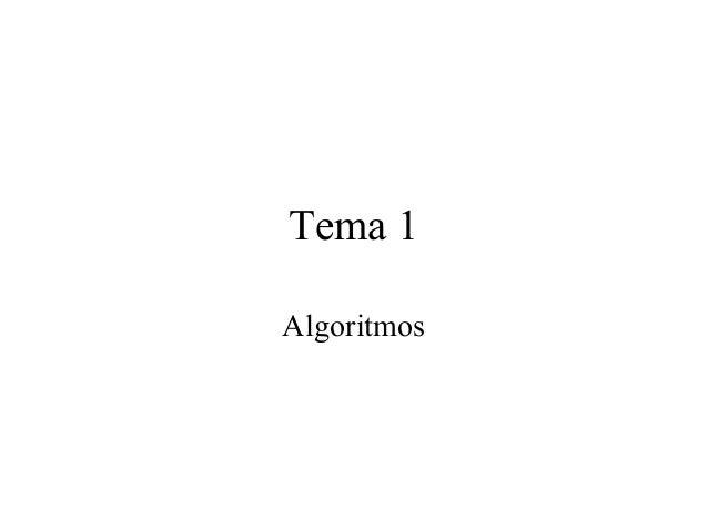 Tema 1 Algoritmos