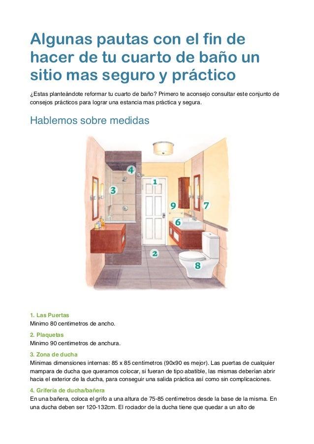 Algunas pautas con el fin de hacer de tu cuarto de baño un sitio mas…