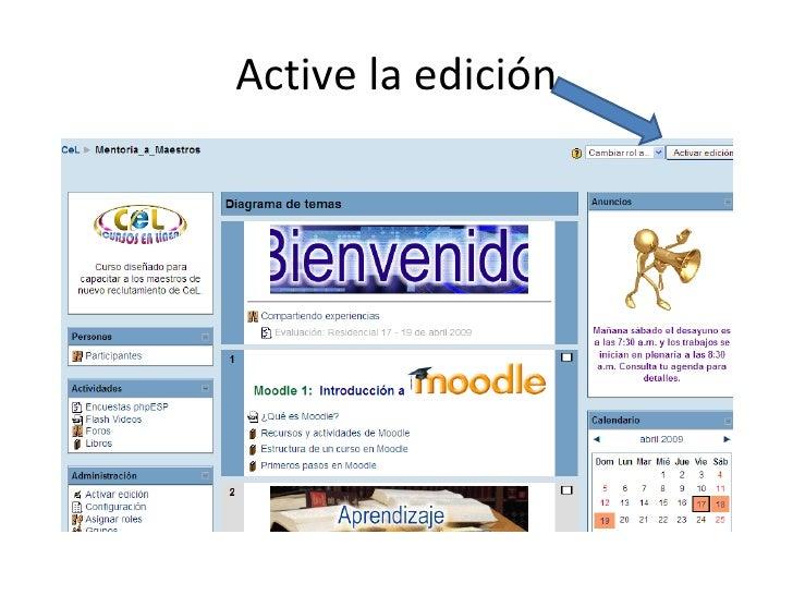 Algunas herramientas de Moodle Slide 2