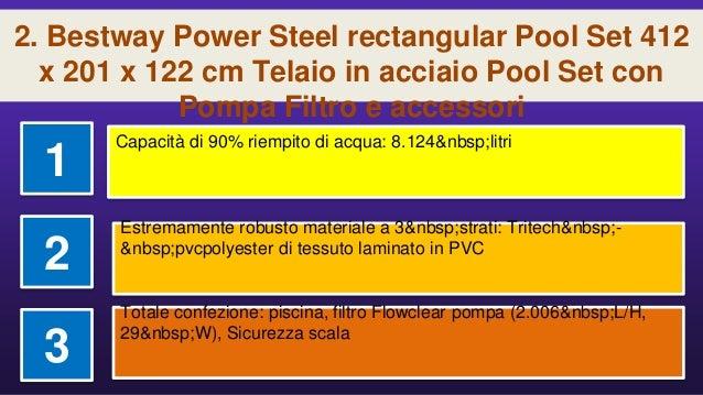a22f232b ... x 122 cm Telaio in acciaio Pool Set con; 5. 2.
