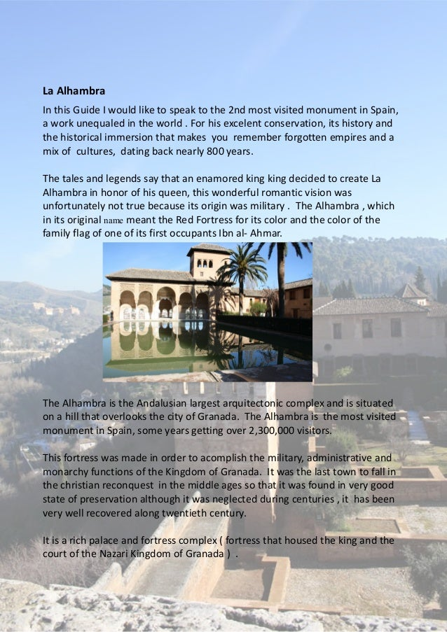 granada ppt In 1238, ibn al-ahmar rose up against ibn hud and conquered parts of the  province of granada he established the kingdom of granada, which extended  from.