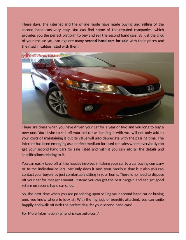 Second Hand Car for Sale – A Great Deal at Low Cost