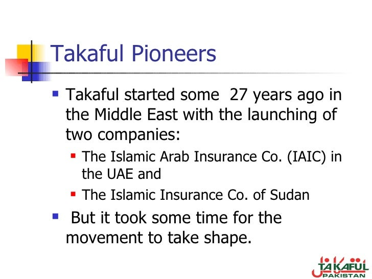 takaful and retakaful Takaful and retakaful (basic – intermediate) realising the takaful industry has a major potential to be developed and enhanced, cert is proud to present this 2-day workshop on takaful (islamic insurance) specially designed to enhance the knowledge of takaful from shariah principles, highlight current issues as well as updates the development of takaful products and practices in malaysia and .