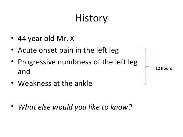 Acute limb ischemia Slide 2