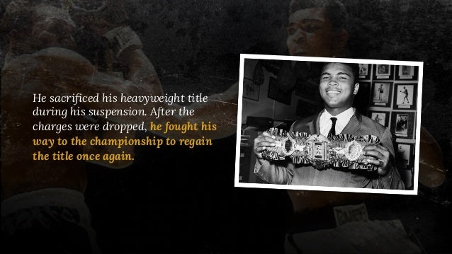 He sacrificed his heavyweight title during his suspension. After the charges were dropped, he fought his way to the champi...