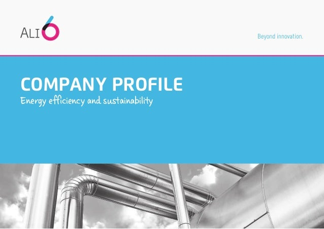 COMPANY PROFILE Energy efficiency and sustainability