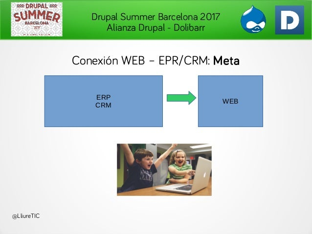 Drupal Summer Barcelona 2017 Alianza Drupal - Dolibarr . @LliureTIC ERP CRM WEB Conexión WEB – EPR/CRM: Meta