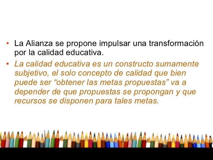 Alianza por la calidad de educacion en mexico