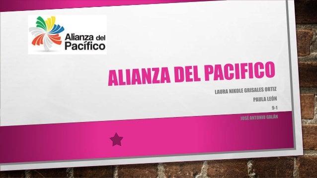 ¿QUE ES LA ALIANZA DEL PACIFICO ? LA ALIANZA DEL PACÍFICO ES UN MECANISMO DE INTEGRACIÓN REGIONAL CONFORMADO POR COLOMBIA,...