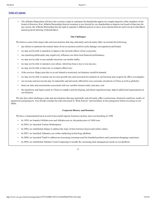 alibaba partnership structure