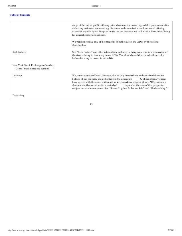 Alibaba Ipo Filing Form F1 562014
